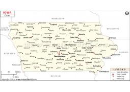 Iowa Cities Map