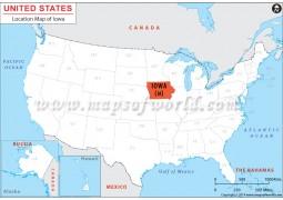 Iowa Location Map