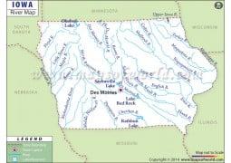 Iowa River Map