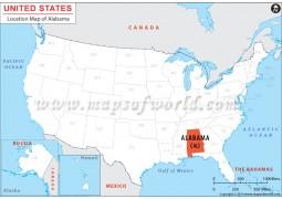 Location Map of Alabama