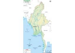 Myanmar River Map
