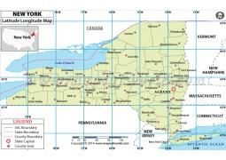 New York Latitude Longitude Map