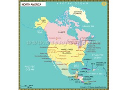 Map of North America for Kids