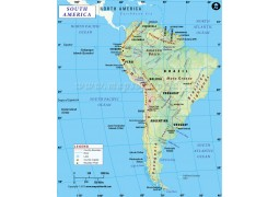 South America Continent Map