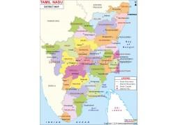 Tamil Nadu District Map