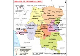 Democratic Republic of the Congo Political Map