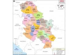 Serbia Spanish Map