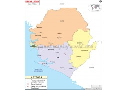 Sierra Leone Map in Spanish