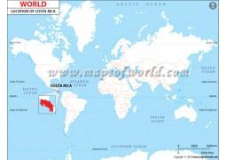 Costa Rica Location Map
