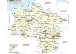 Landkarte Niedersachsen