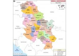 Serbia Portuguese Map