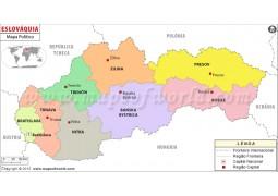 Slovakia Map In Portuguese