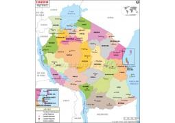 Tanzania Portuguese Map