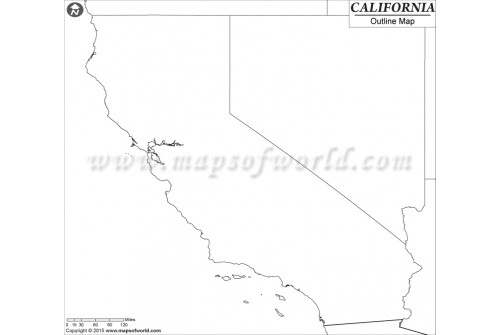 Outline Map of California