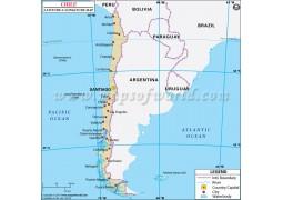 Chile Latitude and Longitude Map