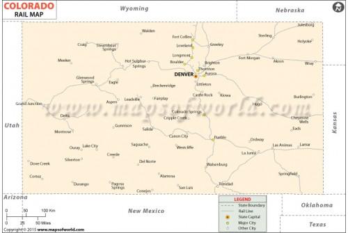 Colorado Rail Map