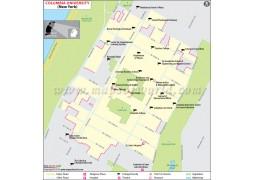 Columbia University in Manhattan New York Map