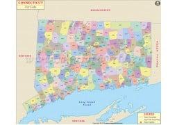 Connecticut Zip Code Map
