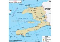 Haiti Latitude and Longitude Map
