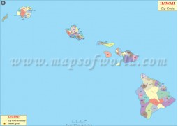 Hawaii Zip Codes Map