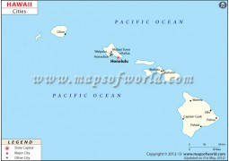 Hawaii Cities Map