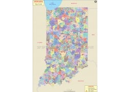 Indiana Zip Code Map