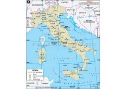 Italy Latitude and Longitude Map