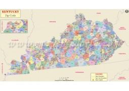Kentucky Zip Code Map