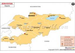 Kyrgyzstan Airport Map