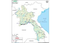 Laos River Map