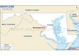 Maryland Outline Map