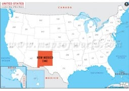 New Mexico Location Map