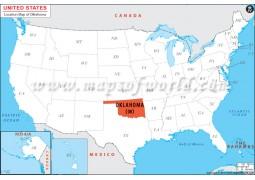 Oklahoma Location Map