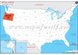 Oregon Location Map