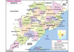 Orissa District Map