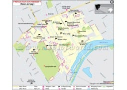 Princeton University in New Jersey Map
