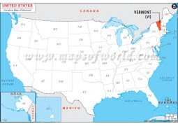 Vermont Location Map