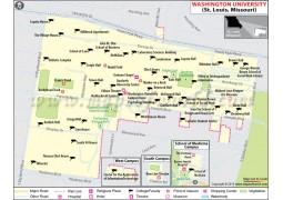 Washington University St. Louis Missouri Map