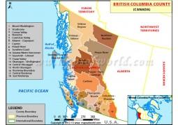 British Columbia Map, Canada