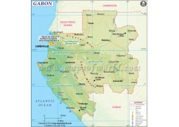 Gabon Printed Map
