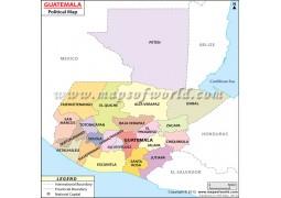 Political Map of Guatemala