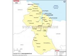 Guyana Cities Map