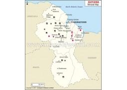 Guyana Mineral Map