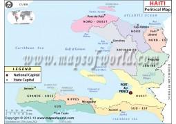Haiti Political Map