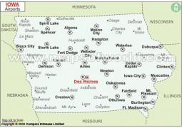 Iowa Airports Map