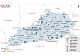 Kentucky National Parks Map