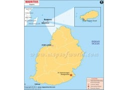 Mauritius Airports Map