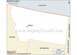 Montana Outline Map