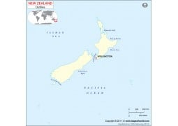 New Zealand Blank Map
