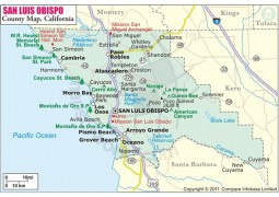 San Luis Obispo County Map